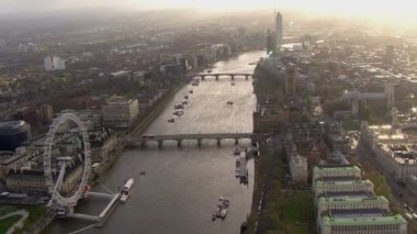 River Thames offering view over London — Stok video