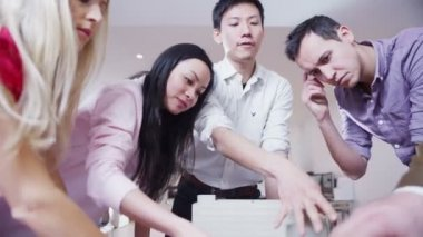 Dynamic young architects in a business meeting — Stock Video