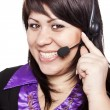 Stock Photo: Woman operator with headset