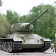 T34 tank museum exhibit - Stock Photo