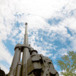 Stock Photo: Anti-aircraft gun KS19 museum exhibit