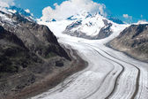Aletsch Glacier in the European — Stock Photo