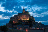 The Mont Saint Michel at evening — Stock Photo