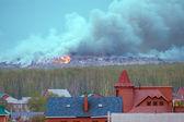 Industrial waste fire — Fotografia Stock