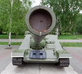 自行火炮 su100 博物馆展出 — 图库照片