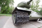 Museum exhibit T34 tank — Stock Photo