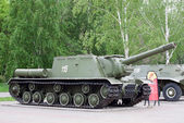 Self-propelled unit ISU152 museum exhibit — Stock Photo