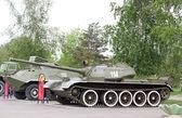 Tank t54 museum utställning — Stockfoto