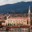 Basilica of Santa Croce. Florence, Italy — Stock Photo