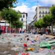 Stock Photo: PAMPLONA, SPAIN-JULY 8: Household waste at SFermin festival i