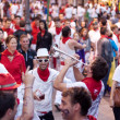 Stock Photo: PAMPLONA, SPAIN -JULY 9: are having fun at opening of