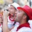 Stock Photo: PAMPLONA, SPAIN -JULY 8: Young having fun at opening