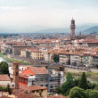 Panorama View of Florence Firenze, Tuscany, Italy — Stock Photo