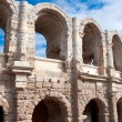 Ancient Roman amphitheater in Arles, France — Stock Photo