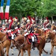 Stock Photo: PARIS - JULY 14: Cavalry at military parade in Republic Da