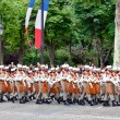 Stock Photo: PARIS - JULY 14: Foreign Legion at military parade in Repu
