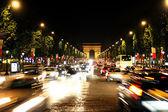 Champs-Elysees Avenue with Arc de Triomphe in Paris — Stock Photo