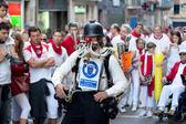 PAMPLONA, SPAIN -JULY 9: having fun at of San Fermin fest — Stock Photo