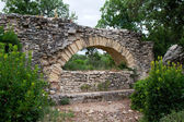 Pont du Gard - element of Roman aqueduct in southern France near — Stock Photo
