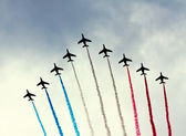 PARIS - JULY 14: French Patrouille de France at a military parad — Stock Photo