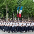PARIS - JULY 14: Army columns marching at military parade in t — Stock Photo #25790031
