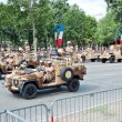 PARIS - JULY 14: Military equipment at a military parade in the — Stock Photo