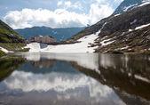 Pass the Great St Bernard. Italy. Switzerland — Stock Photo