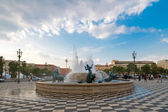 Plaza Massena Square in the city of Nice, France — Stock Photo