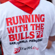Stock Photo: PAMPLONA, SPAIN -JULY 8: min original T-shirt at the