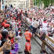 Stock Photo: PAMPLONA, SPAIN -JULY 8: Spectators and participants of race