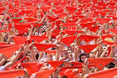 PAMPLONA, SPAIN -JULY 6: welcome opening of San Fermin fe — 图库照片