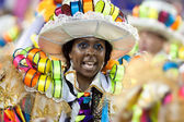 RIO DE JANEIRO - FEBRUARY 11: A woman in costume dancing on carn — Foto Stock