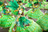 RIO DE JANEIRO - FEBRUARY 10:Dancers at carnival at Sambodromo i — Stock Photo