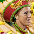 Stock Photo: RIO DE JANEIRO - FEBRUARY 11: womin costume singing and dan