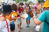 RIO DE JANEIRO - FEBRUARY 11: Street musicians to free 's — Stock Photo