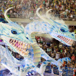 RIO DE JANEIRO - FEBRUARY 11: Show with decorations of dragons o — Stock Photo #25832773