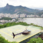 helicóptero do desembarque pad carioca — Foto Stock
