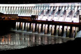 Itaipu Dam on Parana river located on the boarder between Brazil — Stock Photo