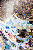 RIO DE JANEIRO - FEBRUARY 11: Show with decorations of dragons o — Stock Photo
