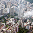 Smoke over residential area of Rio de Janeiro — Stock Photo