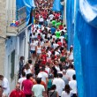 Bunol, Spain - August 28: The crowd awaiting the start of the Ba — Stock Photo