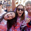 PAMPLONA, SPAIN -JULY 6: People are having fun at opening of San — Stock Photo