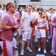 Stock Photo: PAMPLONA, SPAIN -JULY 6: People are having fun at opening of