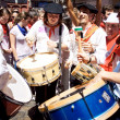 PAMPLONA, SPAIN - JULY 6: Drummers are on street at opening — Stock Photo #32668697