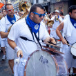 PAMPLONA, SPAIN - JULY 8: Orchestrare on street at opening of — Stock Photo #32668891