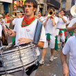 Stock Photo: PAMPLONA, SPAIN - JULY 8: Orchestrare on street at opening of