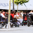 Stock Photo: PAMPLONA, SPAIN-JULY 8: People with disabilities at festival San
