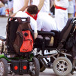PAMPLONA, SPAIN-JULY 8: People with disabilities at festival San — Stock Photo #32669031