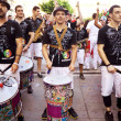PAMPLONA, SPAIN - JULY 9: Drummers are on street during of festi — Stock Photo