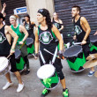 Stock Photo: PAMPLONA, SPAIN - JULY 9: Drummers are on street during of SF